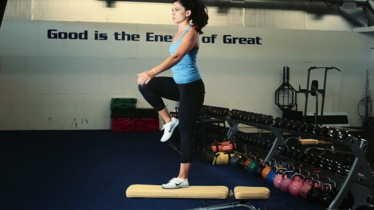Bench Step Ups Exercise Tips Daily Routine Fitness