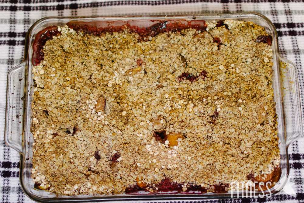 healthy fruit crumble recipe with oats sage fruit