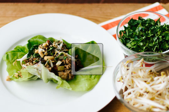 Turkey Lettuce Wraps with Jillian Harris